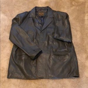 Other - Brown Leather Blazer
